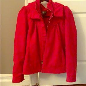 Red bluenotes coat